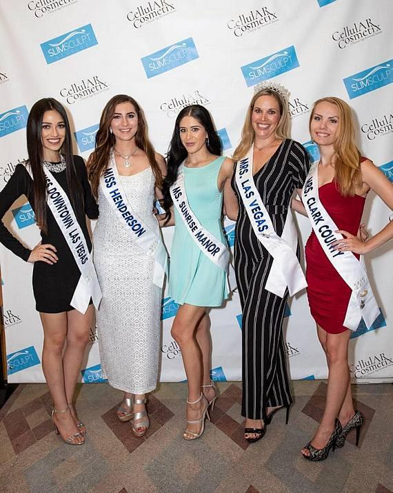 Several pageant title holders visit Slim Sculpt Studios grand opening at Tivoli Village