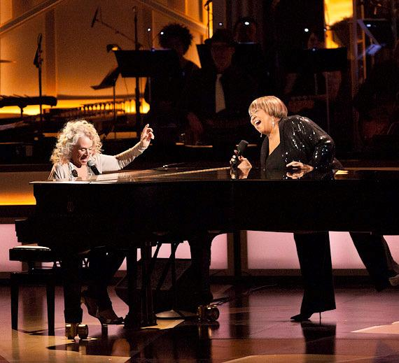 Carole King and Mavis Staples