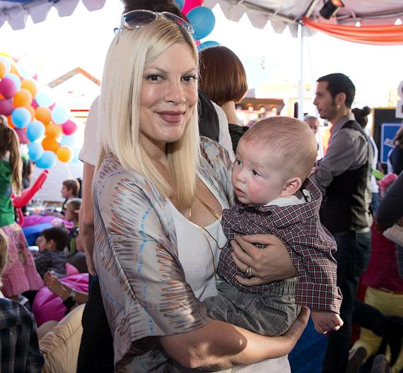 Tori Spelling and her baby
