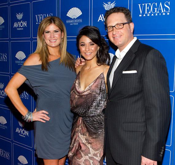 Abby Tegnelia, Editor-in-Chief, Emmanuelle Chriqui and Josef Vann, Publisher