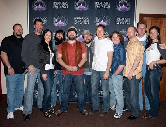 Zac Brown with AEG and Hard Rock Hotel Executives
