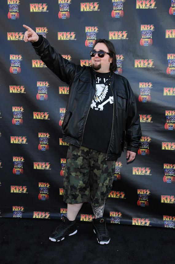 Pawn Star Chumlee at KISS by Monster Mini Golf Grand Opening in Las Vegas
