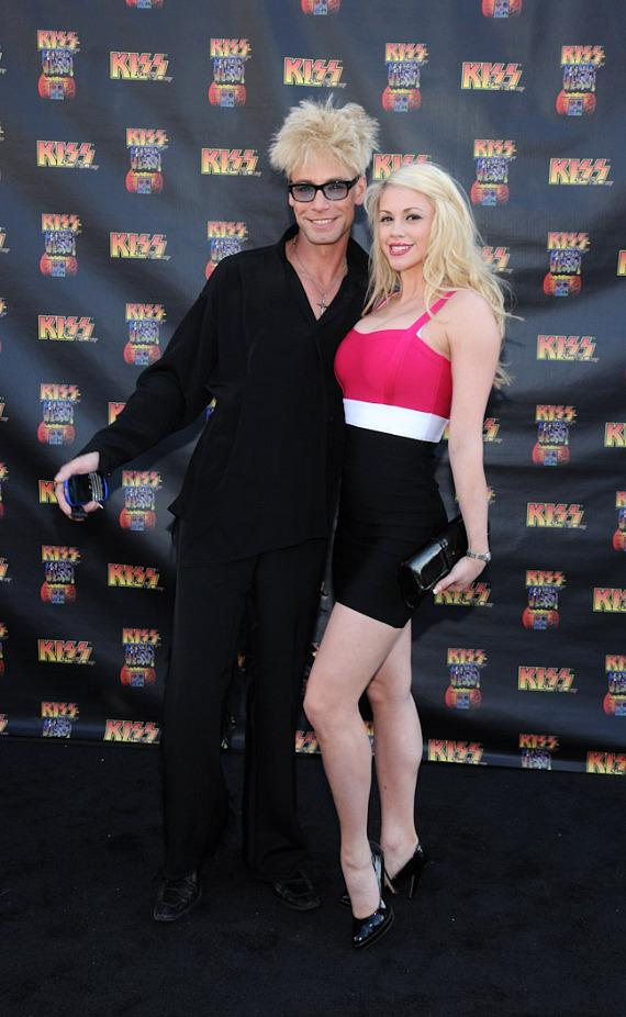 Murray SawChuck and guest at KISS by Monster Mini Golf Grand Opening in Las Vegas