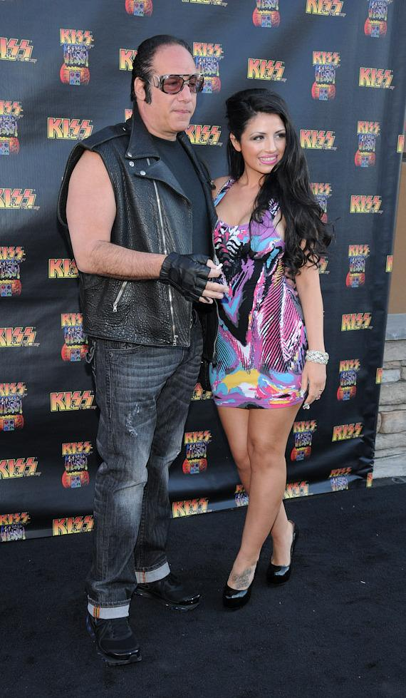 Andrew Dice Clay and his wife at KISS by Monster Mini Golf Grand Opening in Las Vegas