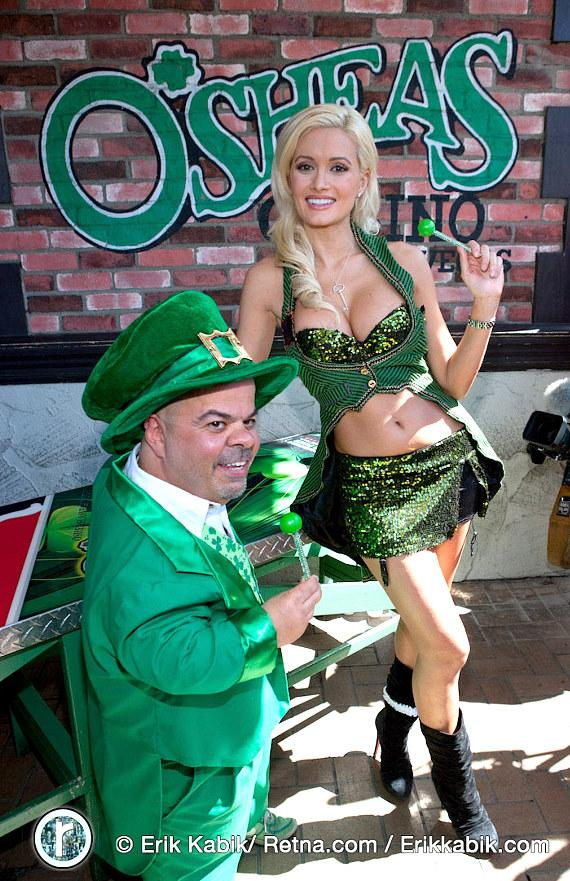 "Brian ""Lucky"" Thomas and Holly Madison at O'Sheas"