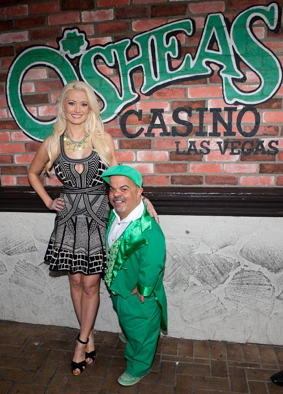 "Holly Madison and Brian ""Lucky"" Thomas at O'Sheas in Las Vegas"