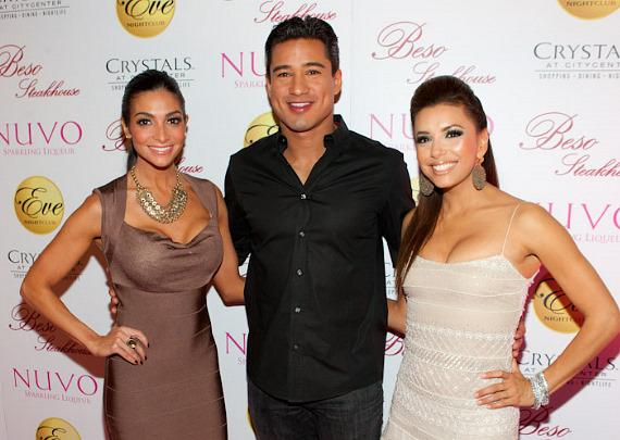 Courtney Mazza, Mario Lopez and Eva Longoria