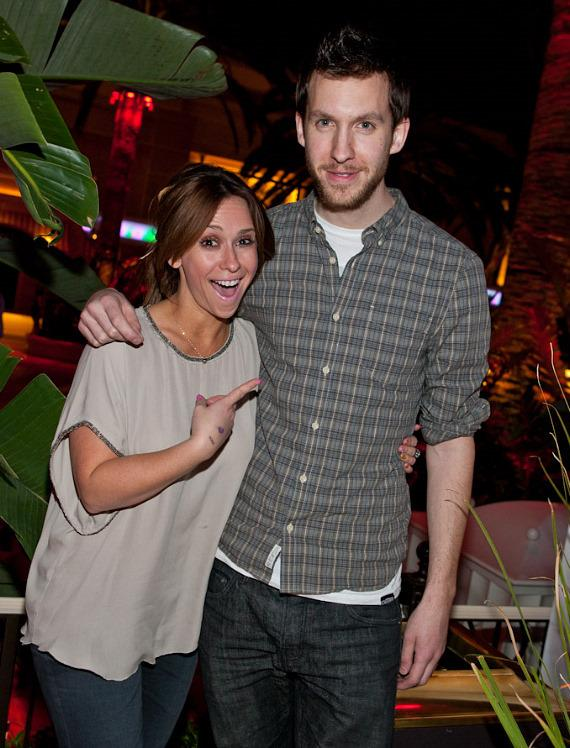 Jennifer Love Hewitt and DJ Calvin Harris at Surrender Nightclub