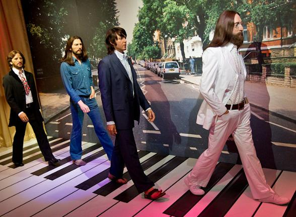 Madame Tussauds Las Vegas Welcomes The Beatles Abbey Road Traveling Experience