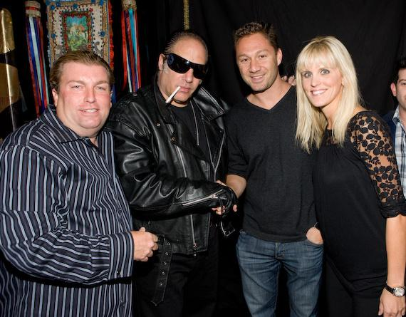 Matt and Tricia Johnson (Sushisamba owners) with Andrew Dice Clay and Jason Strauss (operating partner TAO)