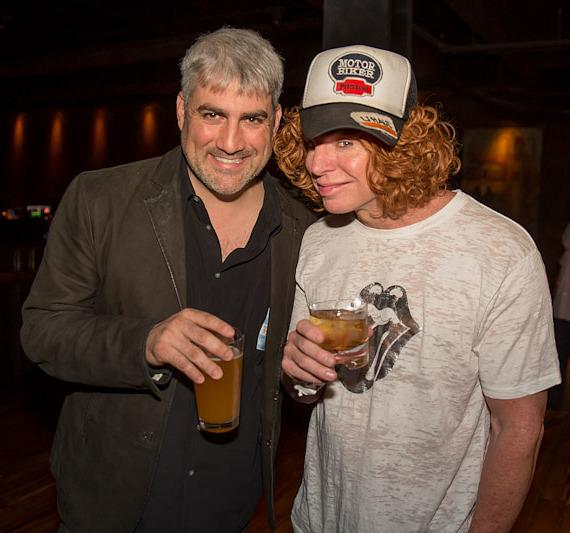 Taylor Hicks and Carrot Top
