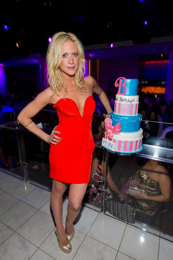 Brittany Snow celebrates her 25th birthday at PURE Nightclub