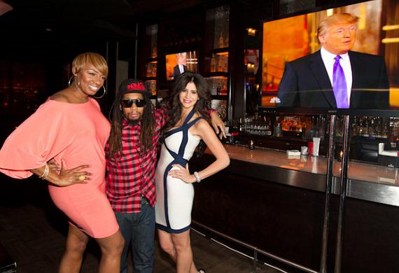 "NeNe Leakes, Lil Jon and Hope Dworaczyk at ""The Celebrity Apprentice"" Viewing Party at Blush"