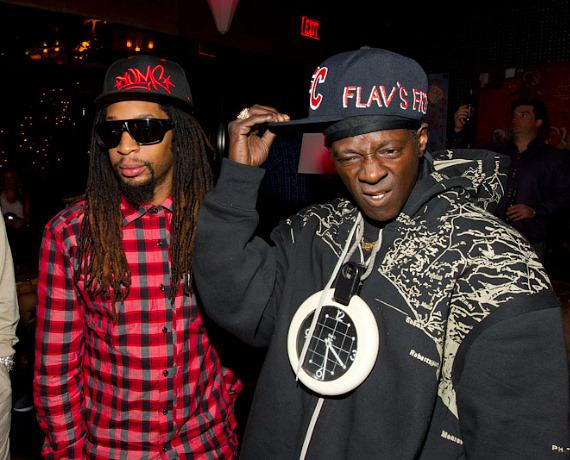 "Lil Jon and Flavor Flav at ""The Celebrity Apprentice"" Viewing Party at Blush"