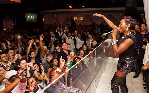 Estelle performs at PURE Nightclub