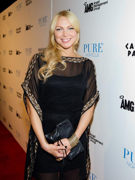 Laura Prepon on the red carpet at PURE Nightclub