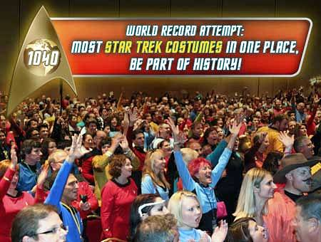 Star Trek Costumes: Guinness Book of Worlds Records Attempt Announced for Upcoming Las Vegas Star Trek Convention