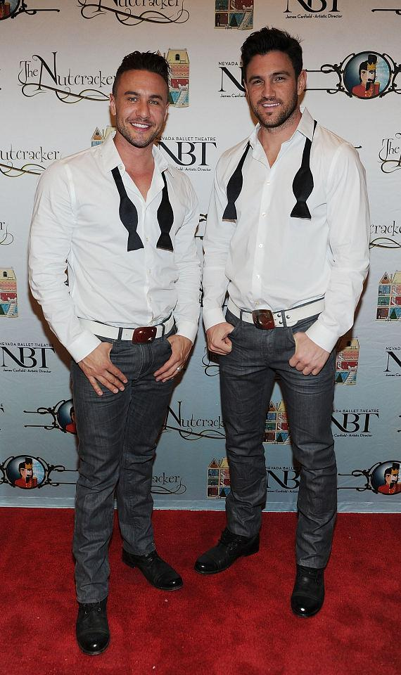 Ryan Stuart and Mikey Cross (dancers of Chippendales) attend Opening Night of Nevada Ballet Theatre's The Nutcracker at The Smith Center