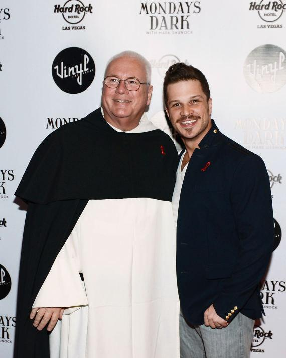 Mark Shunock with St. Therese Executive Director, Father Joseph O'Brien