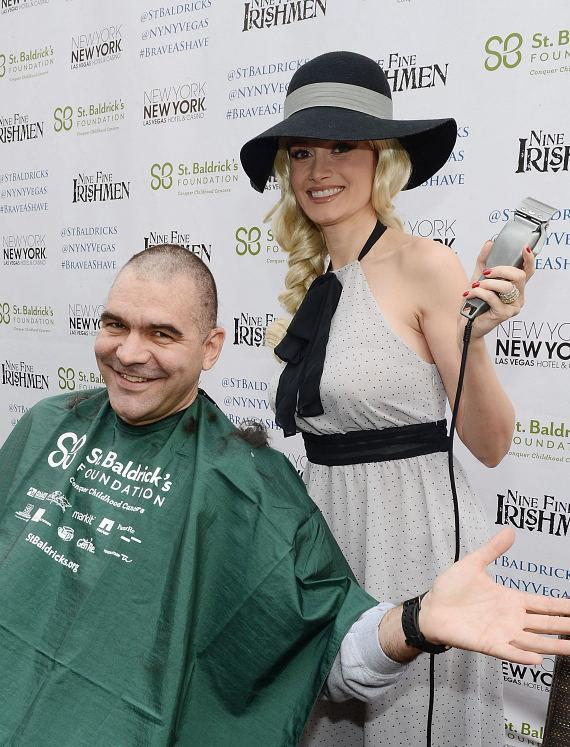 Holly Madison with John Katsilometes' at St. Baldrick's Day Fundraiser at New York - New York Hotel & CasinoHolly Madison with John Katsilometes' at St. Baldrick's Day Fundraiser at New York - New York Hotel & Casino
