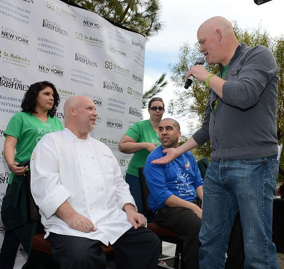 Chet Buchanan (R) hosts St Baldricks Day celebration and fundraiser for childhood cancer research at New York - New York Hotel & Casino