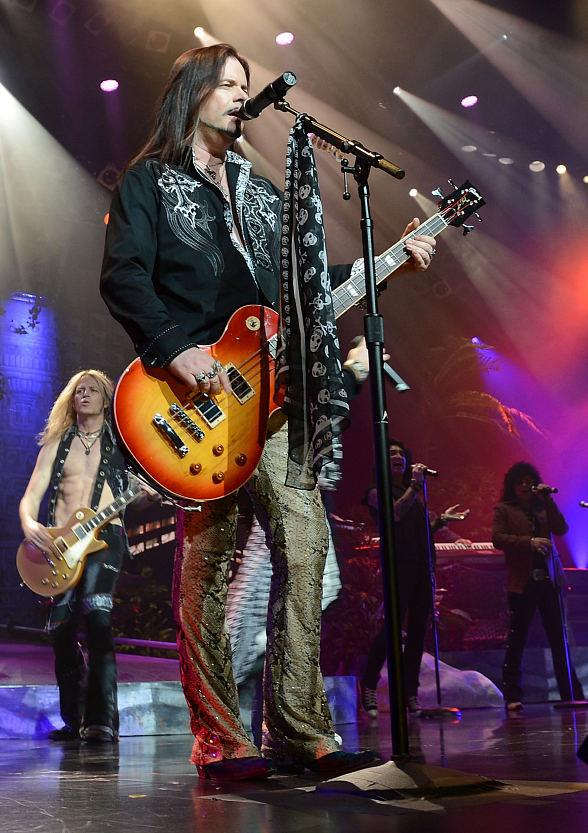 John Payne performs in Raiding the Rock Vault at the Las Vegas Hotel