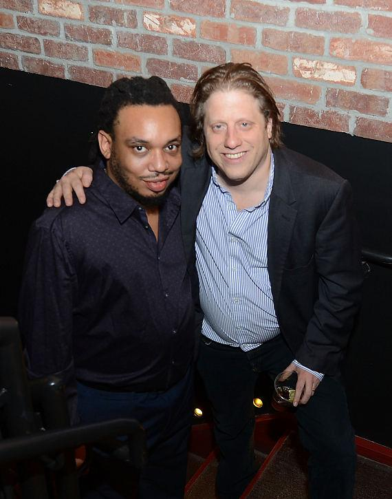 Peter Shapiro (R), one of the owners of Brooklyn Bowl
