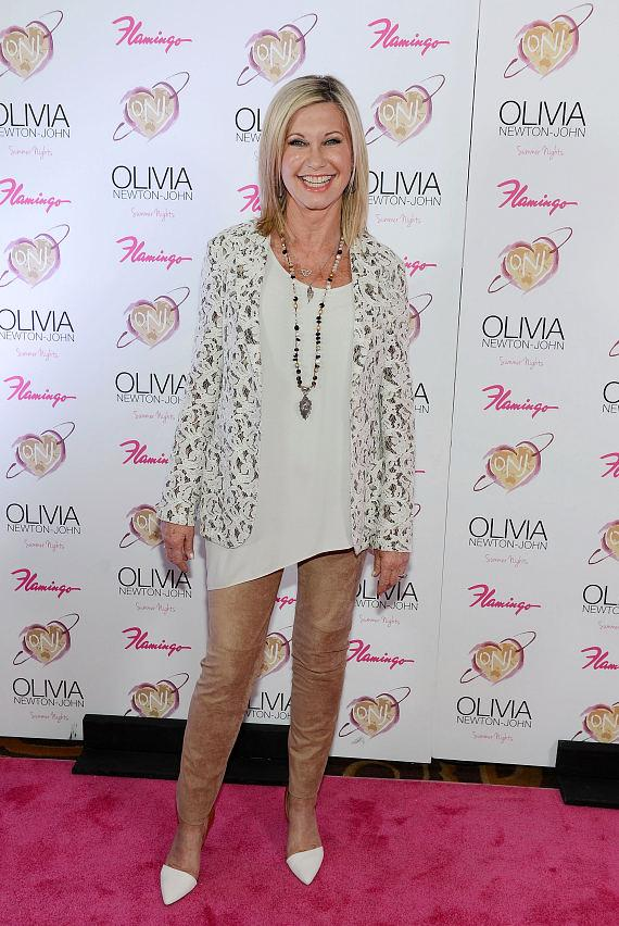 "Olivia Newton-John on opening night of her show ""Summer Nights"" at The Flamingo in Las Vegas"