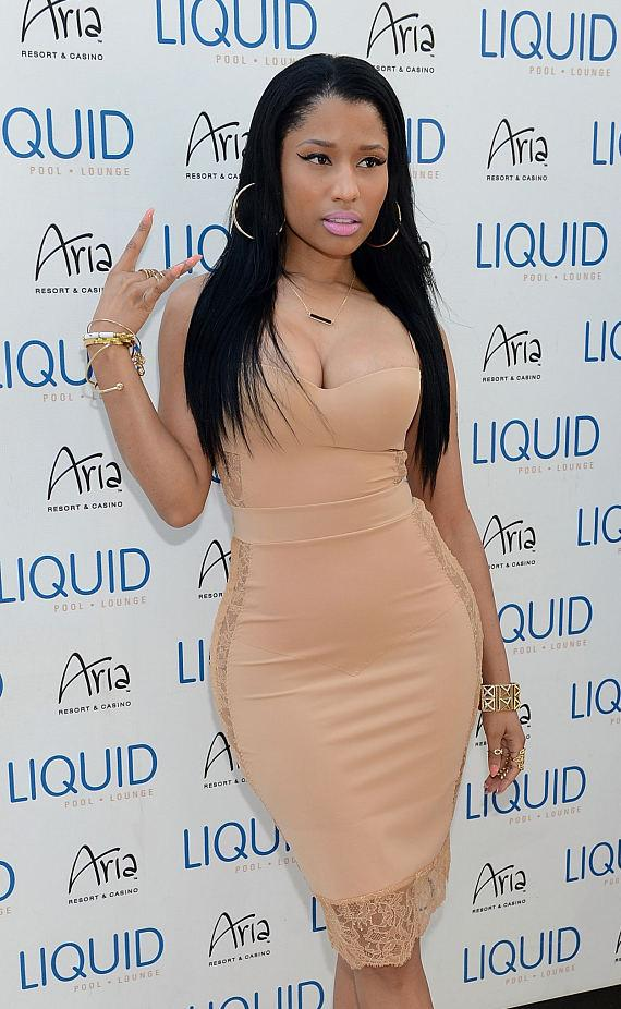 Nicki Minaj arrives at LIQUID Pool Lounge at ARIA in Las Vegas