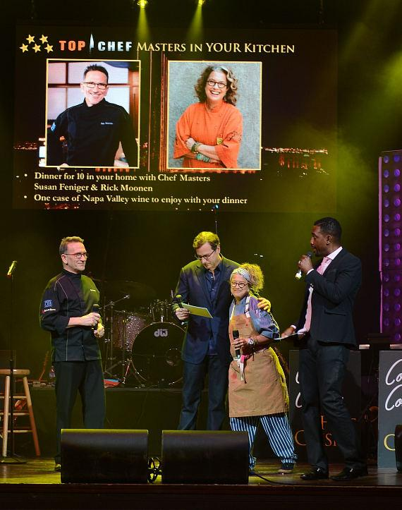 Rick Moonen, Bob Saget, Susan Feniger and Bill Bellamy during the Scleroderma research fund raiser to help find a cure for Scleroderma at House of Blues Las Vegas on June 5, 2014