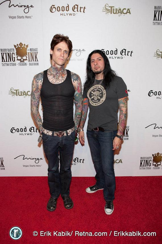 Josh Todd and a member of Buck Cherry
