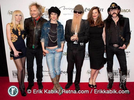 Ace, Matt Sorum, Juliette Lewis, Billy Gibbons and wife, Lemmy Kilmister