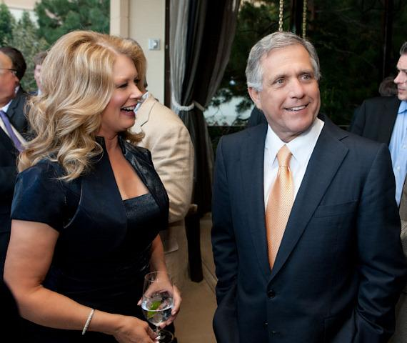 Mary Hart and CBS President & CEO Leslie Moonves