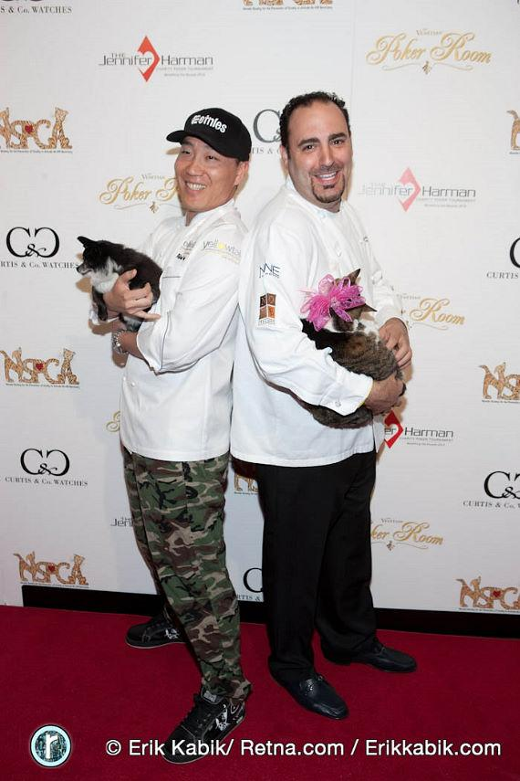 Iron Chef Akira Back and Chef Barry Dakake