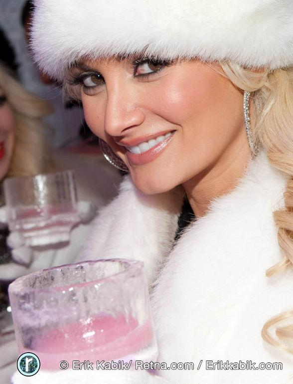 Holly Madison Visits Minus5 Ice Lounge at Mandalay Bay