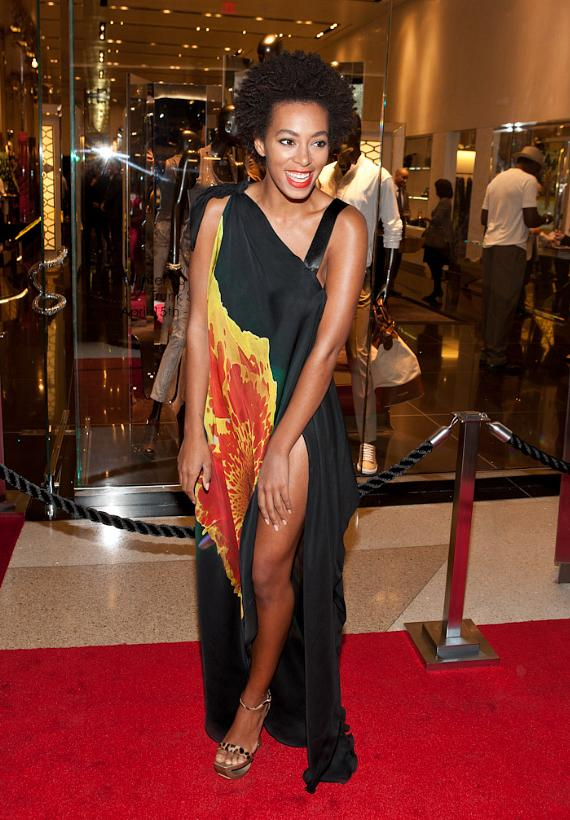 DJ Solange Knowles spins Motown oldies for Roberto Cavalli Trunk Show at Crystals