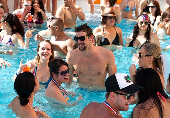 Michael Phelps at Encore Beach Club