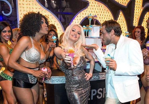 Cheaza, Holly Madison and Josh Strickland at PEEPSHOW's Three Year Anniversary