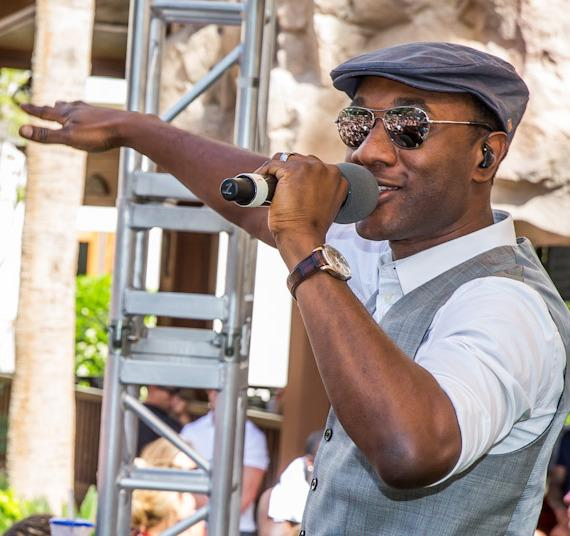 Aloe Blacc performs at REHAB Pool Party at Hard Rock Hotel & Casino in Las Vegas