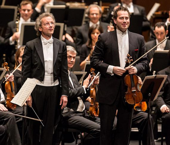Franz Welser-Möst and Nikolaj Znaider with The Cleveland Orchestra