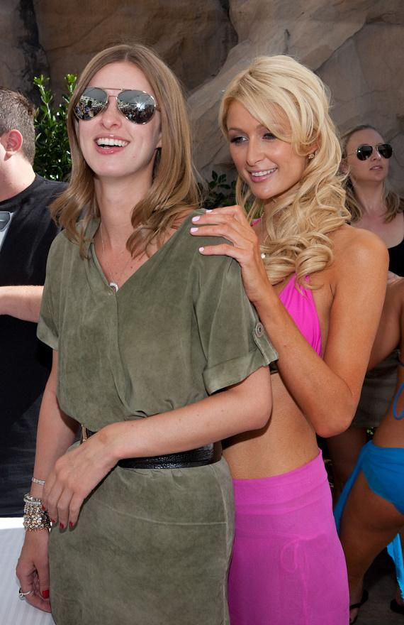 Paris Hilton and Nicky Hilton at Rehab at Hard Rock Hotel & Casino