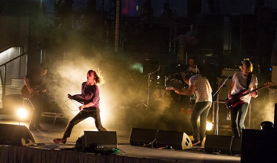 Cage the Elephant performs at the Boulevard Pool at The Cosmopolitan of Las Vegas