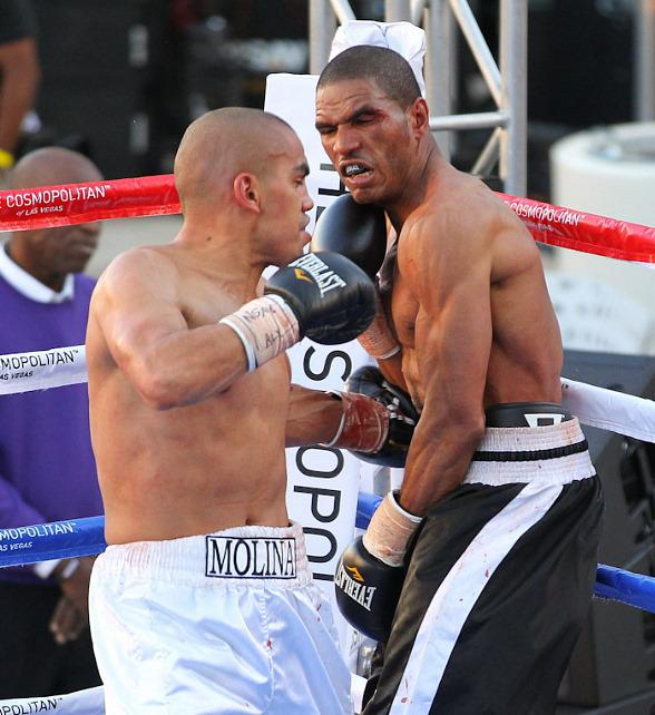 Molina vs. Conyers during Fight Night at The Cosmopolitan of Las Vegas