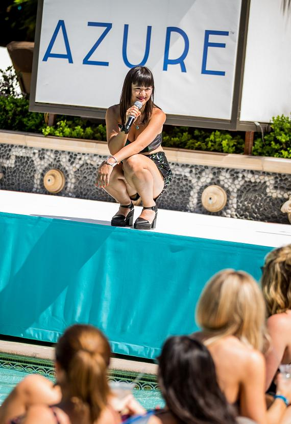 Fiora performs at Azure Luxury Pool at The Palazzo Las Vegas