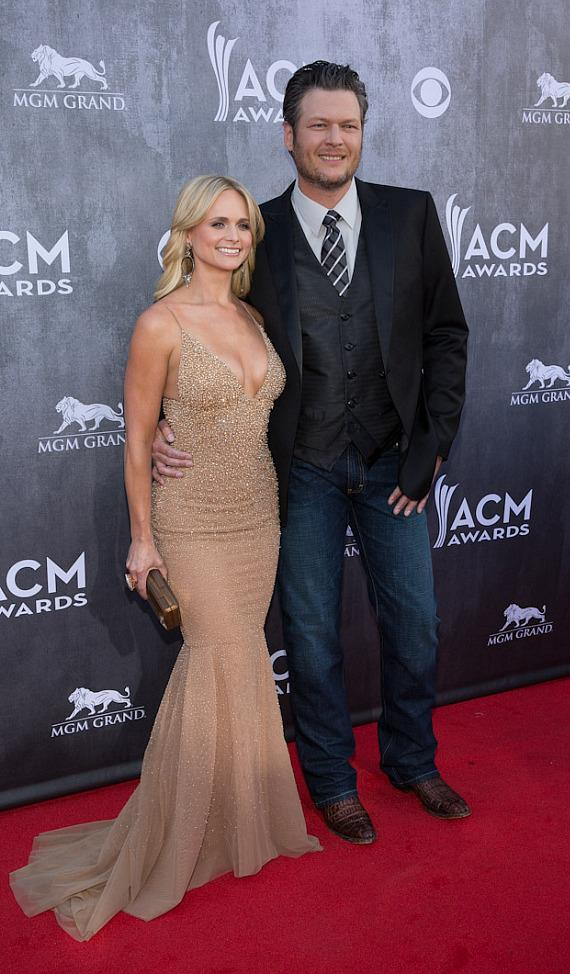 Miranda Lambert and Blake Shelton at 49th ACM Awards in Las Vegas