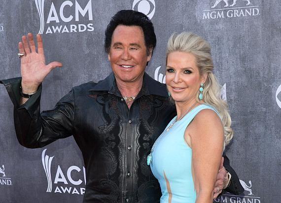 Wayne Newton and wife Kathleen McCrone at 49th ACM Awards in Las Vegas
