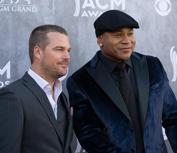 Chris O'Donnell and LL Cool J 49th ACM Awards in Las Vegas