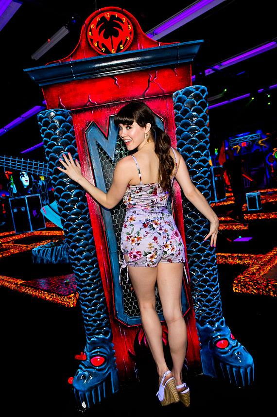 Claire Sinclair at KISS Monster Mini Golf in Las Vegas