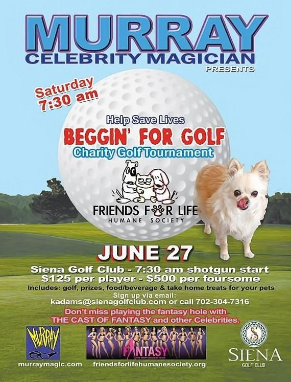 "Murray to host ""Beggin' for Golf"" Charity Golf Tournament at Siena Golf Club June 27"