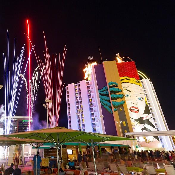 Plaza Hotel & Casino to Host July 4th Party at Rooftop Pool with Hot Dog Eating Contest and Downtown Las Vegas' Only Live Fireworks Show
